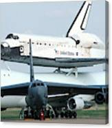 747 Transporting Discovery Space Shuttle Canvas Print