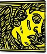 Dusseault Angel Cherub Yellow Black Canvas Print