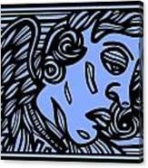 Bouthillette Angel Cherub Blue Black Canvas Print