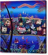 75th Anniversary Of Palm Beach, Florida Oil On Canvas Canvas Print