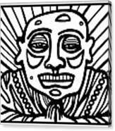 Lorton Buddha Black And White Canvas Print