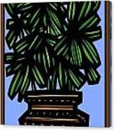 Kisiel Plant Leaves Green Black Canvas Print