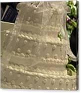 #775 D138 Cake All White  Canvas Print