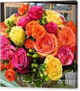 #790 D300 Roses Super Bright Canvas Print