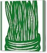 Hassenplug Plant Leaves Green White Canvas Print