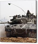 An Israel Defense Force Merkava Mark II Canvas Print