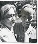 British-born Sculptress Completes Bust Of President Nyerere Canvas Print