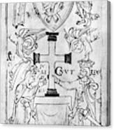 Canute I (c995-1035) Canvas Print