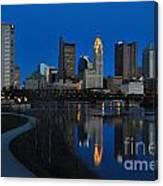 Columbus Ohio Skyline At Night Canvas Print