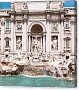 Fontana Di Trevi In Rome Canvas Print