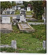 Key West Cemetery Canvas Print