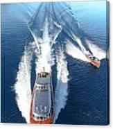 Lake Tahoe Wooden Boats Canvas Print