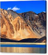 Mountains Pangong Tso Lake Leh Ladakh Jammu And Kashmir India Canvas Print