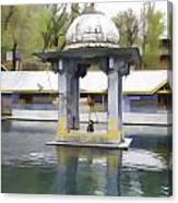 Premises Of The Hindu Temple At Mattan With A Water Pond Canvas Print