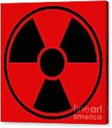 Radiation Warning Sign Canvas Print