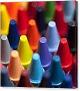 Rows Of Multicolored Crayons  Canvas Print