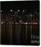 San Diego Skyline Night Canvas Print