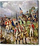 Saratoga: Surrender, 1777 Canvas Print