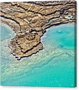 Sinkholes In Northern Dead Sea Area Canvas Print