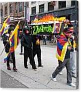 Tibetan Protest March Canvas Print