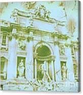 Trevi Fountain Landscape Canvas Print