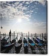 Venice With Gondolas Canvas Print
