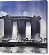 View Of The Towers Of The Marina Bay Sands In Singapore Canvas Print