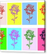 8 Warhol Roses By Punt Canvas Print