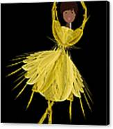 8 Yellow Ballerina Canvas Print