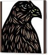 Labore Eagle Hawk Brown White Canvas Print