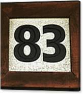 #83 Canvas Print