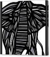 Batra Elephant Grey Black White Canvas Print