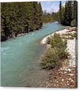 850p Bow River Canada Canvas Print