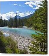 853p Bow River Canada Canvas Print