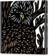 Mitzner Eagle Hawk Green Black Brown Canvas Print