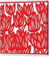 Sandvig Flowers Red White Canvas Print