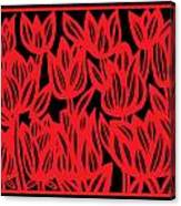 Rottenberg Flowers Red Black Canvas Print