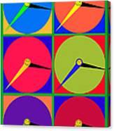 879 - Three Thirty - Eight Pop Clocks Canvas Print