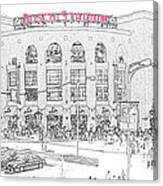 8th And Clark Busch Stadium Sketch Canvas Print