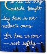 8x10 Dmb So Let Us Sleep Outside Tonight Canvas Print