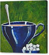 8x10 Tea Cup With Sugar Cubes Canvas Print