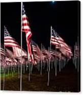 9-11 Flags Canvas Print