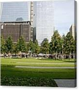 9/11 Grass Canvas Print