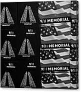 9/11 Memorial For Sale In Black And White Canvas Print