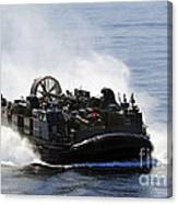 A Landing Craft Air Cushion Transits Canvas Print