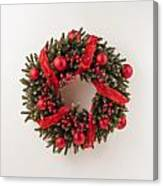 Advent Christmas Wreath  Canvas Print