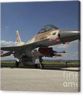 An F-16c Barak Of The Israeli Air Force Canvas Print