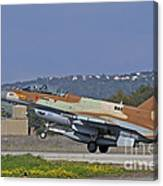 An F-16d Barak Of The Israeli Air Force Canvas Print