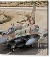 An F-16i Sufa Of The Israeli Air Force Canvas Print