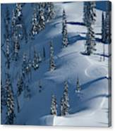 Backcountry Ski Traverse In Glacier Canvas Print